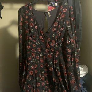 Free People Rose Printed dress